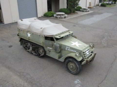 2015 M3 For Sale >> 1943 White M-3 Half Track Troop Carrier on GovLiquidation.com - YouTube
