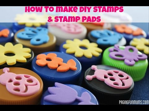 How to make DIY Stamps & Stamp Pads! - YouTube