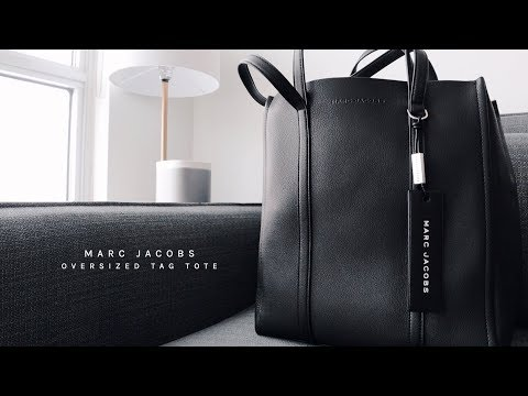 1f5e42761184 Unboxing The Marc Jacobs Oversized Tag Tote - YouTube