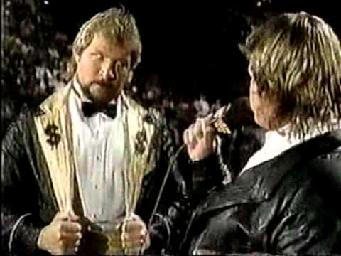Roddy Piper interviews Ted DiBiase (03-17-1991)