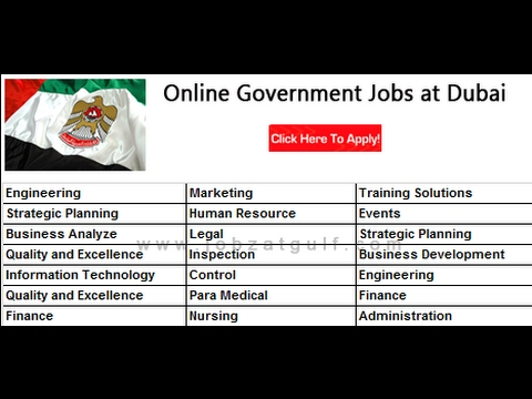 How to search and apply for government job in UAE/Dubai