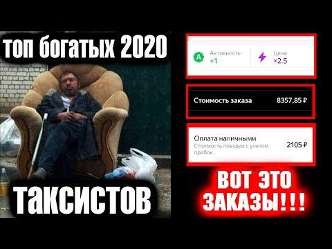 Таксисты богачи в Яндекс такси. Лучшие в 2020. Это ШОК!