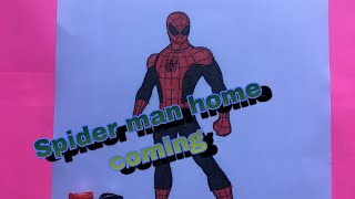 #SpidermanHomecoming #Colouring #Drawing SPIDER MAN HOME COMING COLOURING KIDS / #colouringpage