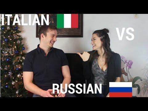 Italian VS Russian Language Challenge SUB ITA Итальянский или Русский? Вызов брошен!