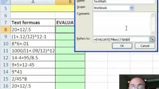 Trick 37  Evalualte Text Math VBA  Excel 4 Macro Function  MoreFunc add in