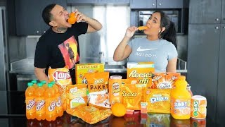 EATING ONLY ORANGE FOODS FOR 24 HOURS!