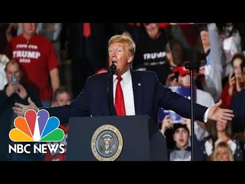 Trump Holds Campaign Rally In Iowa Amid Impeachment Trial | NBC News (Live Stream Recording)