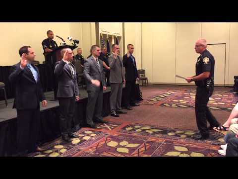 Swearing In Ceremony for 5 Manchester Police Officers