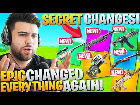 Epic SECRETLY Changed Almost EVERY Weapon AGAIN! (Fortnite Battle Royale Chapter 2)
