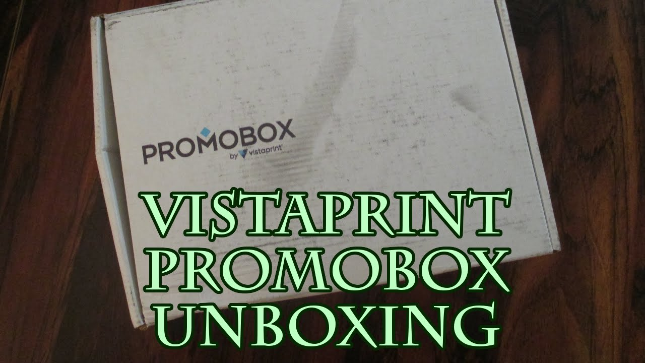 Vistaprint PromoBox Unboxing - YouTube - photo#35
