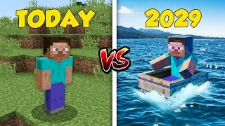 Minecraft TODAY vs. 10 YEARS: EVOLUTION OF MINECRAFT! (2019-2029)