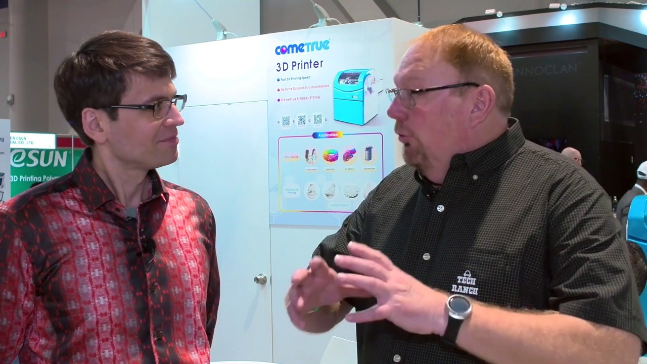 Color 3D Printing - Super 3D Plus Printing at CES 2019