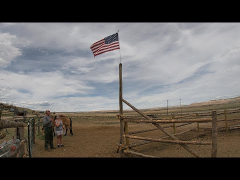 Old Glory... Installing The American Flag On The Gate I Built