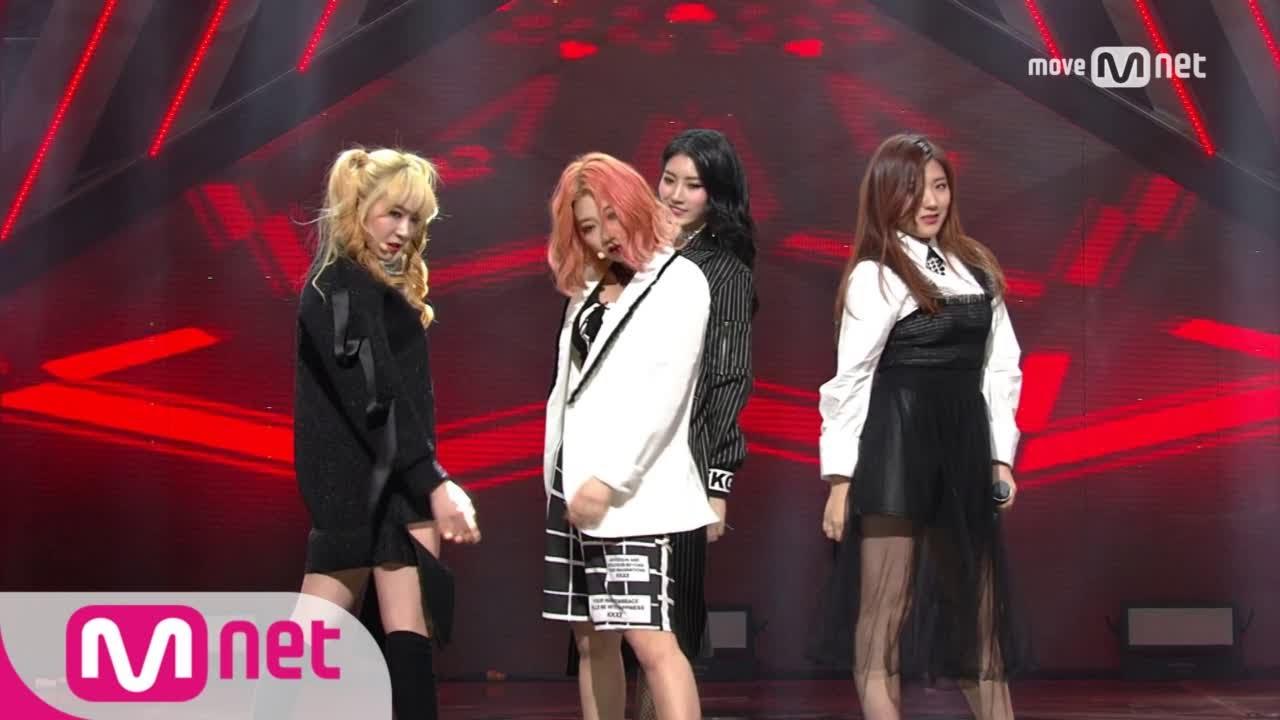 [H U B - Girl Gang] Debut Stage | M COUNTDOWN 170209 EP 510