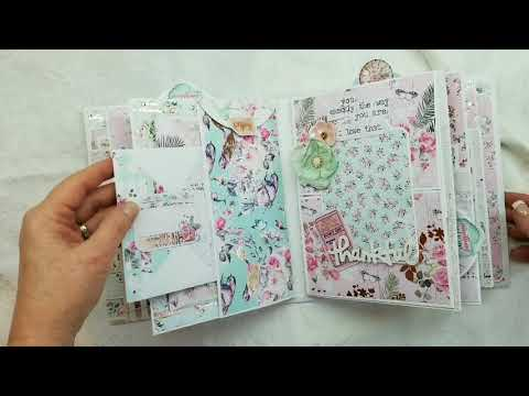 Prima Havana Mini Album Bird Cage Set for Scrapbooking With M.E.