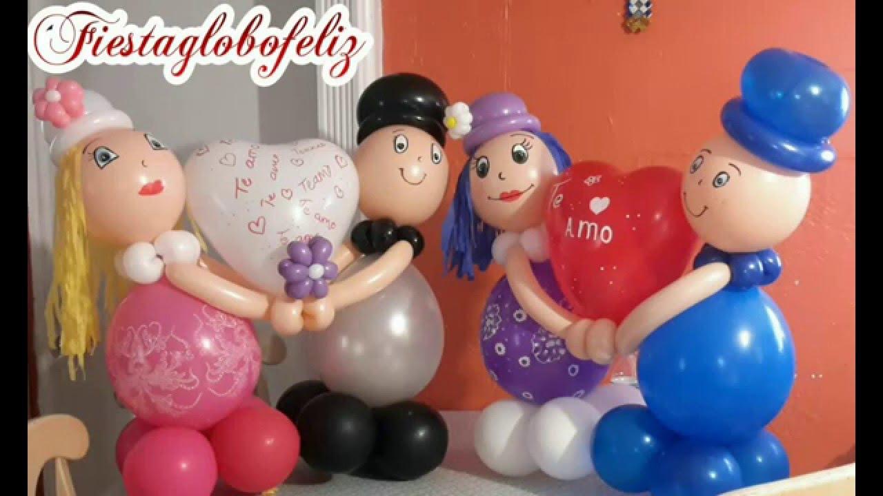 Como hacer novios con globos para san valent n youtube - Hacer munecos con globos ...