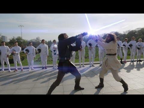 Star Wars fencing flash mob