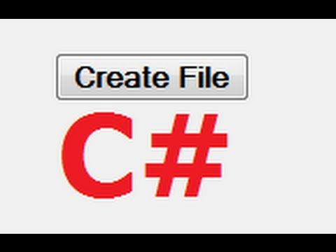 C# Tutorial 27:  Create a text file and write in it using C#