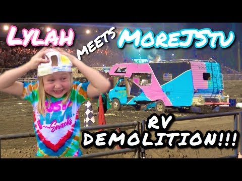 when she Meets MoreJStu and RV Tour!!! at Demolition Derby