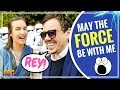 I Met Rey at a Star Wars Reunion! Mark Hammil receives Hollywood Walk of Fame Star #JediDay
