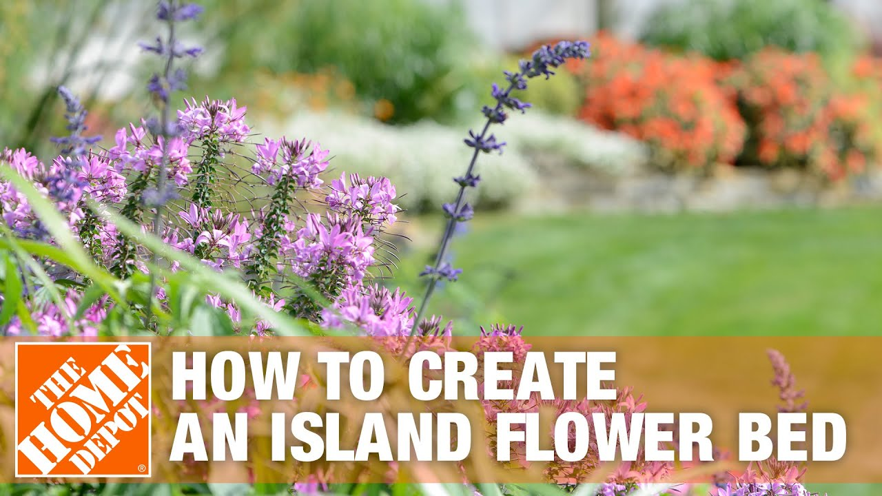 How To Create An Island Flower Bed The Home Depot Youtube