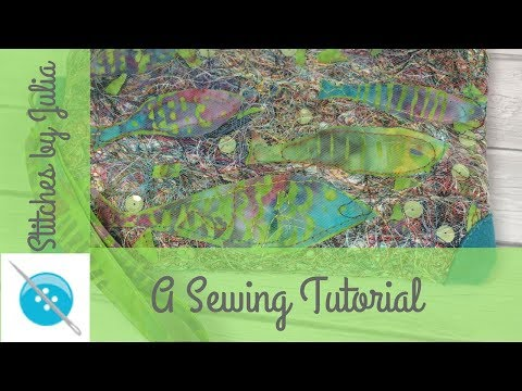 Creating New Fabric From Scraps, Free-Motion Stitching Project, Sewing a Clutch, Tutorial