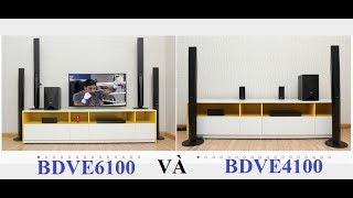 Dàn Âm thanh Sony BDVE6100 và BDVE4100 cùng công suất 1000w nhưng khác nhau thế nào