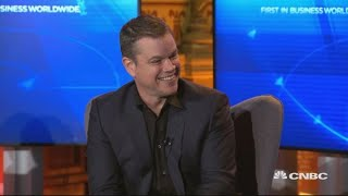 Matt Damon weighs in on US politics and which Democrats he supports | World Economic Forum