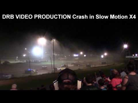 Marion Center Speedway 6/17/17 Steel Block Limited Late Model Crash