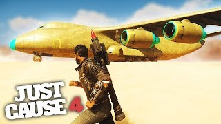 BIGGEST PLANE IN JUST CAUSE 4 MADNESS! - Just Cause 4 Stunts & Fun!
