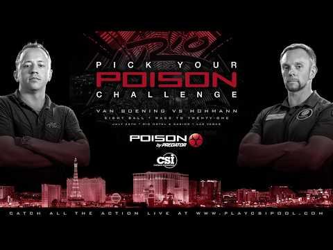 8-BALL THRILLER! Shane Van Boening vs Thorsten Hohmann | 2016 Poison Challenge | Race to 21