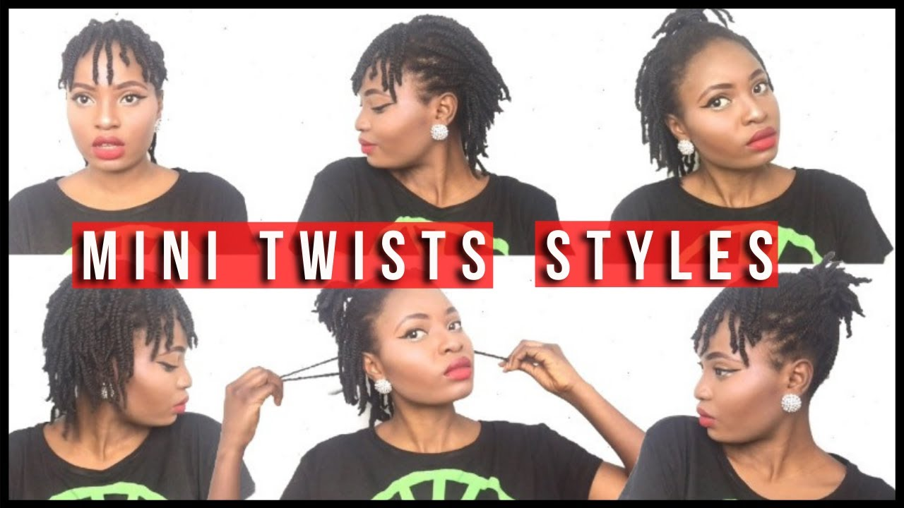 How To Style Mini Twists On Natural Hair 4c Protective Style