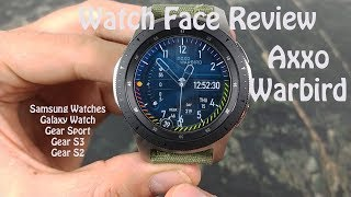 Watch Face Review: Axxo WARBIRD Samsung Galaxy Watch Gear S3 Gear Sport