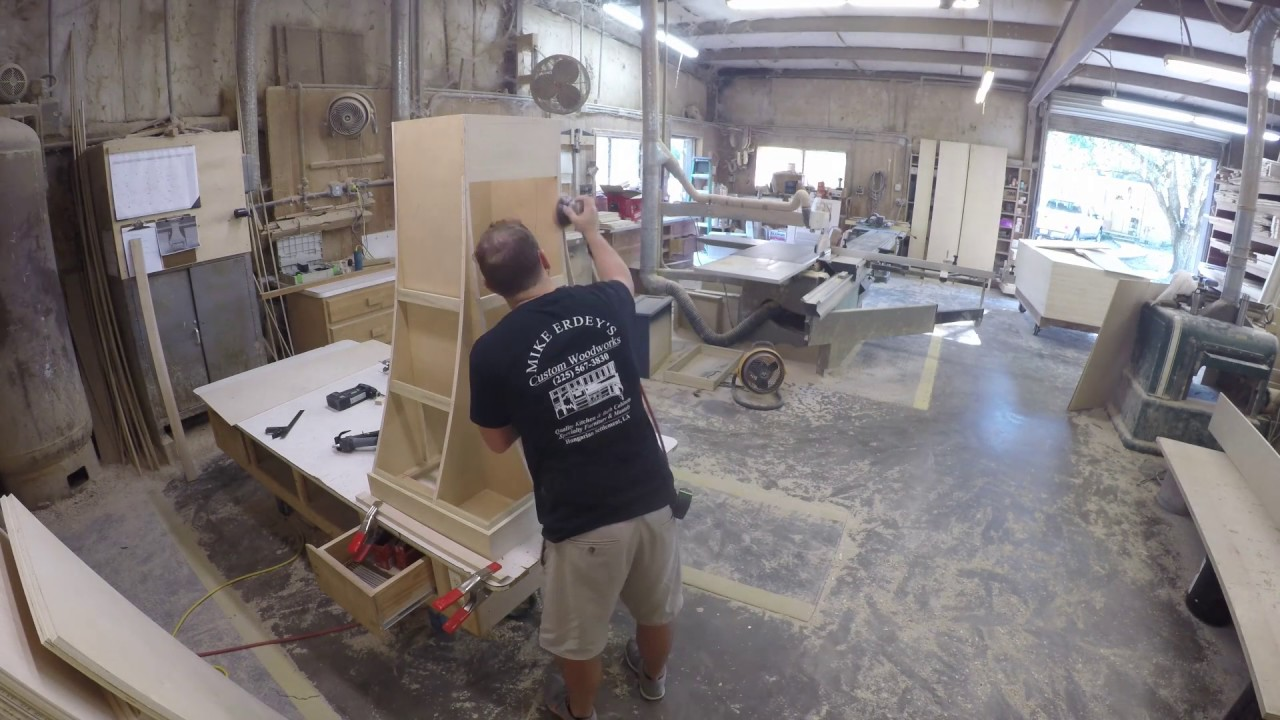 Custom Curved Kitchen Hood Cabinet Time Lapse