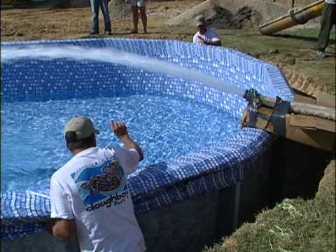 Doughboy inground installation part 5 of 6 youtube for Installing swimming pool