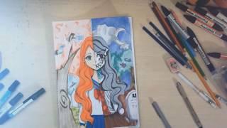 「Scary/Cute Manga Girl- Speed Drawing 」