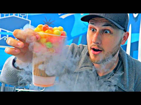Eating Liquid Nitrogen Candy!