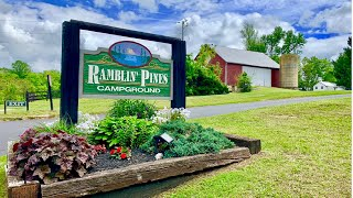 RAMBLIN PINES CAMPGROUND, WOOĎBINE MARYLAND: RV Park and Campground Tour