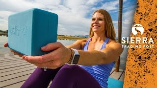 Certified personal trainer shows 5 exercises that use a yoga block. Watch our fitness videos: http://stp.me/nlnt1 Subscribe for more outdoor tips: ...