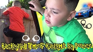 THIEF IN THE BACKYARD! POLICE CHASE WITH ROOKIE COP...