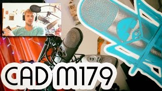 cad m179 variable pattern condenser microphone review comparison with cad u37 studio mic