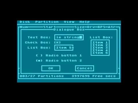 Atari 8-bit Text Mode Dialog Manager
