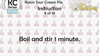 Raisin Sour Cream Pie - Kitchen Cat