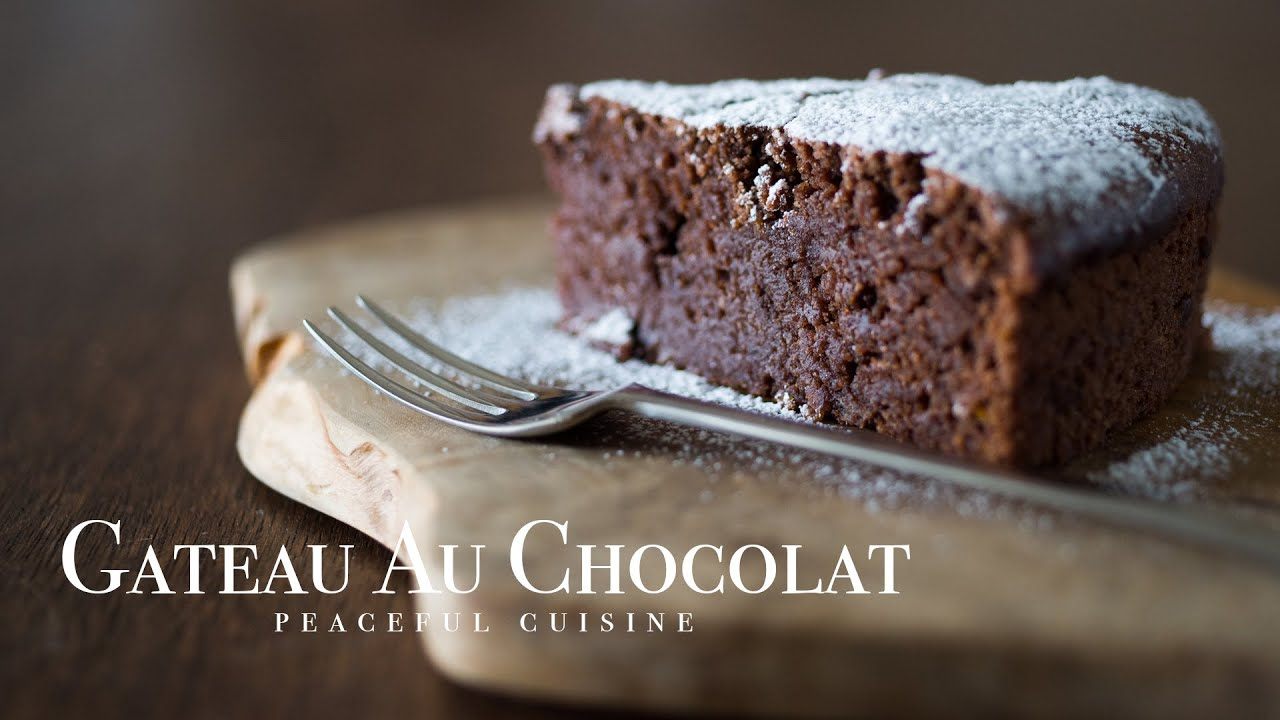 gateau au chocolat vegan chocolate cake youtube. Black Bedroom Furniture Sets. Home Design Ideas
