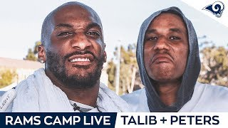 Aqib Talib and Marcus Peters join Rams Camp Live Day 2! | Rams Training Camp 2019