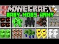 Minecraft BABY ARMY MOD! | BUILD ARMY OF BABY MOBS TO SURVIVE APOCALYPSE! | Modded Mini-Game