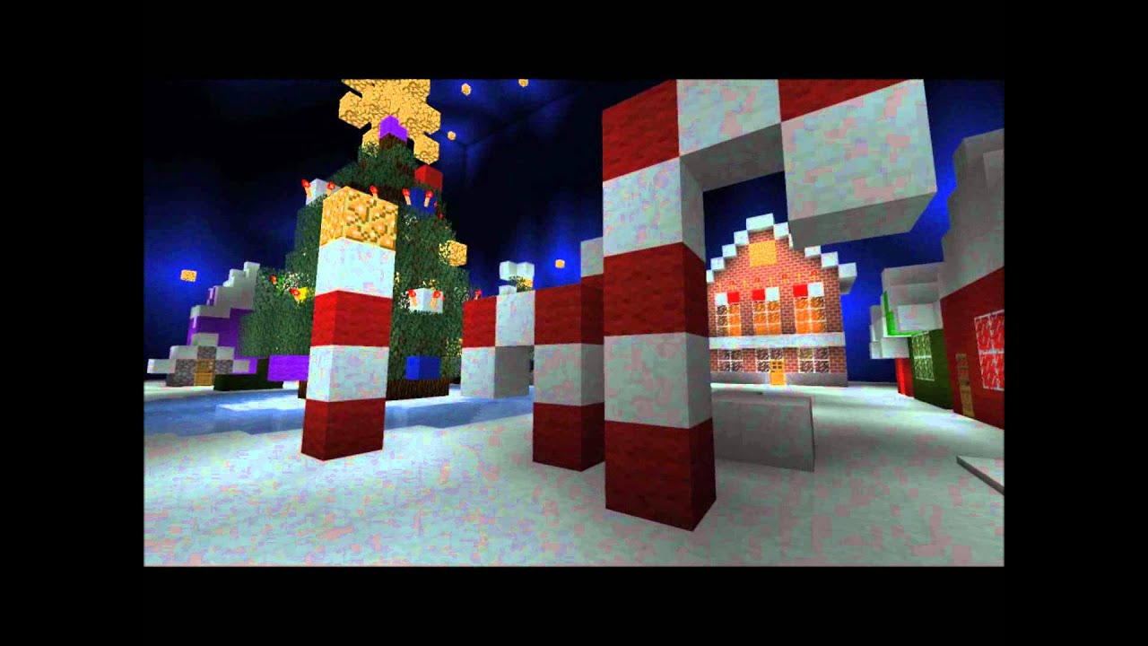 Minecraft Christmas Town Youtube