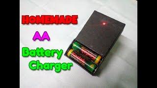 Evde Pil Şarj Nasıl.Ev yapımı AA Pil Şarj cihazı.Basit Bir İşlem Ve Kolay Hale Getirmek İçin