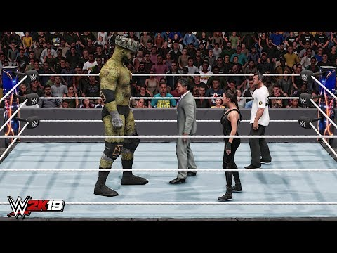 WWE 2K19 Giant Triple H Zombie vs Mini McMahon's Match!