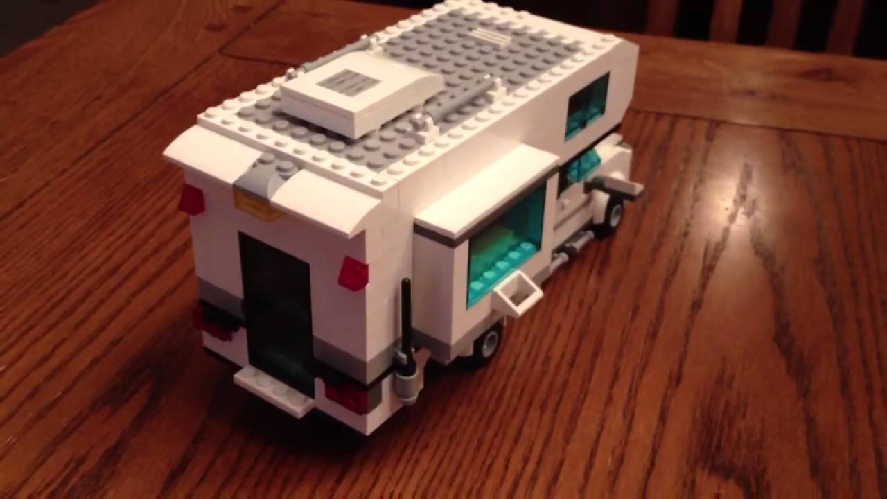 Truck Bed Camper >> Lego camper in pick up truck bed - YouTube